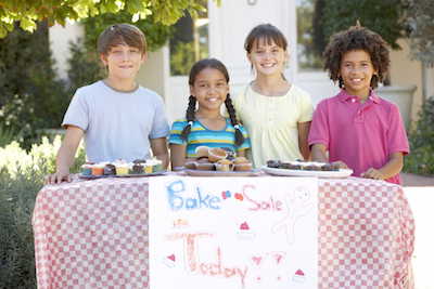 Kids Hosting a Bake Sale